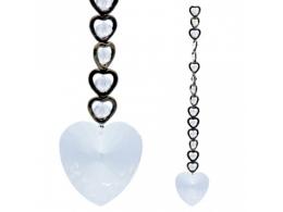 FENG SHUI kristallripats - 15 südant - Valge